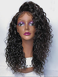 cheap -Virgin Human Hair Lace Front Wig Brazilian Hair Curly With Baby Hair 130% 150% 180% Density Unprocessed African American Wig Short Medium