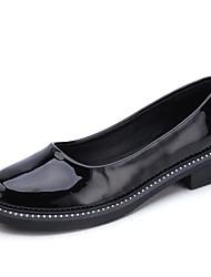 abordables -Femme Chaussures Polyuréthane Printemps Automne Confort Mocassins et Chaussons+D6148 Talon Bas pour Noir Beige Rose