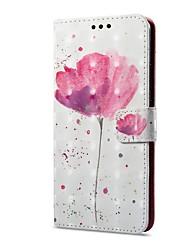 billiga -fodral Till Huawei Mate 10 pro / Mate 10 lite Plånbok / Korthållare / med stativ Fodral Blomma Hårt PU läder för Mate 10 pro / Mate 10 lite / Huawei