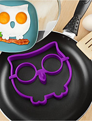 cheap -Cartoon Owl Shape Egg Frying Ring, Silicone Material