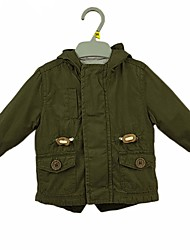 cheap -Baby Boys' Daily Solid Suit & Blazer, Cotton Ordinary Long Sleeves Army Green