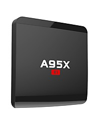 abordables -A95X Android7.1.1 Box TV Amlogic S905W Quad Core ARM Cortex A53 @2GHz 1GB RAM 8GB ROM Quad Core