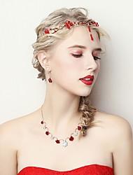 Недорогие -Жен. Комплект ювелирных изделий - Цветы Включают Красный Назначение Свадьба / Для вечеринок