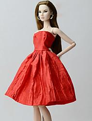 abordables -Vestidos Vestidos por Muñeca Barbie  Rojo Vestido por Chica de muñeca de juguete