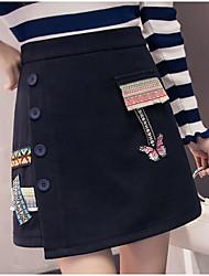 cheap -Women's Simple A Line Skirts - Print, Print High Waist