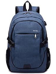 cheap -Men's Bags Nylon Backpack Zipper Dark Blue / Gray / Purple