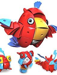 Недорогие -Магнитные плитки Конструкторы 90pcs Новый дизайн Птица трансформируемый Аниме Животные Девочки Мальчики Игрушки Подарок