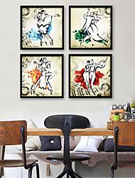 baratos -Pessoas Ilustração Arte de Parede,PVC Material com frame For Decoração para casa Arte Emoldurada Sala de Estar Interior