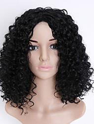 cheap -European and American Ladies Short Curly Hair Fiber High Temperature Silk Small Volume Explosion Head Wig 16inch