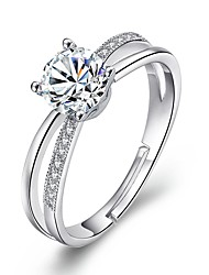 cheap -Women's Cubic Zirconia Alloy Statement Ring - Simple For Wedding Engagement