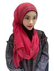 Недорогие -Мода Головные уборы хиджаб Абайя Красный Синий Розовый Синий Розовый Шифон Косплэй аксессуары