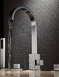 baratos -Torneira de Banheira - Moderna Cromado Banheira e Chuveiro Vãlvula Latão