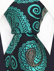 cheap -Men's Party Work Rayon Necktie - Color Block Paisley Jacquard Criss-Cross