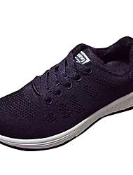 Недорогие -Жен. Универсальные Обувь Полиуретан Осень Удобная обувь Спортивная обувь На плоской подошве для Атлетический Черный Синий+Розовый