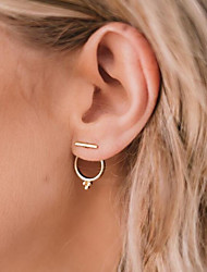 cheap -All Stud Earrings , Casual Fashion Alloy Circle Jewelry Gold Daily Office & Career Costume Jewelry