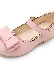 abordables -Fille Chaussures Polyuréthane Printemps Automne Confort Chaussures de Demoiselle d'Honneur Fille Ballerines pour Décontracté Blanc Noir