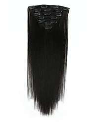 Недорогие -На клипсе Расширения человеческих волос 7Pcs / обновления 70g / пакет Бежевый Blonde // Bleach Blonde Каштановый / Bleach Blonde Средний