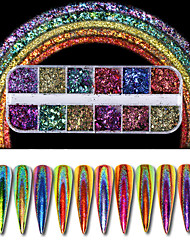 cheap -1pcs Nail Glitter / Glitter Powder / Powder Classic Daily Nail Art Design