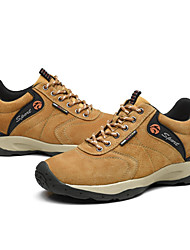 cheap -Men's Shoes Nubuck leather Spring Fall Comfort Athletic Shoes Hiking Shoes for Outdoor Khaki Blue Brown