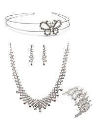 cheap -Women's Jewelry Set - Imitation Diamond European, Fashion Include Headwear / Bridal Jewelry Sets White For Wedding / Party