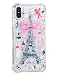 Θήκη Za Apple iPhone X iPhone 8 Otporno na trešnju S tekućinom Uzorak Kućište Eiffelov toranj Mekano TPU za iPhone X iPhone 8 Plus iPhone