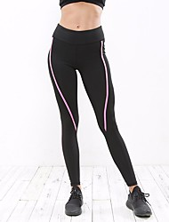 cheap -Women's Spandex Thin Solid Color Legging, Solid Black