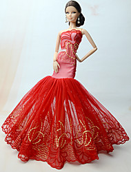 cheap -Princess Dresses For Barbie Doll Dresses For Girl's Doll Toy