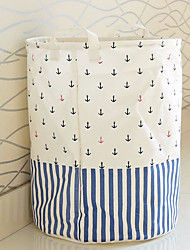 cheap -Nylon fiber Natural Fiber Round Multifunction Home Organization, 1pc Laundry Bag & Basket