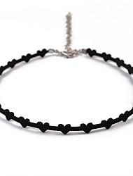 preiswerte -Damen Herz Einfach Modisch Halsketten , Leder Aleación Halsketten . Alltag