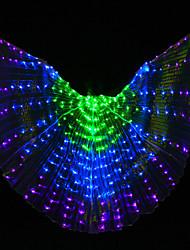 Недорогие -Танец живота Крылья Исиды Жен. Выступление Полиэстер Лампа входит в комплект Труба Крылья