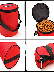 preiswerte -Katze Hund Schalen & Wasser Flaschen Haustiere Schüsseln & Füttern Mini Tragbar Klappbar Schwarz Rot