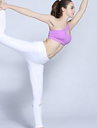 abordables -Femme Collants de Course Respirabilité Collants Yoga Course/Running Marche Polyester Blanc Noir S M L XL