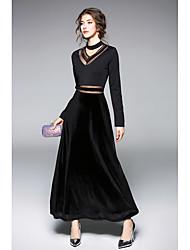 cheap -Women's Casual Sheath Dress - Solid Colored, Mesh High Waist