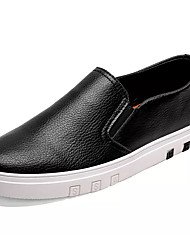 Недорогие -Муж. обувь Искусственное волокно Весна Осень Удобная обувь Мокасины и Свитер для Повседневные Черный Темно-синий Коричневый