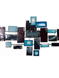 Недорогие -Декор стены Металл Абстракция Деревня Предметы искусства, Металлические украшения на стену из 1