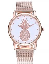 baratos -Mulheres Relógio de Pulso Relógio de Moda Chinês Quartzo Mostrador Grande Couro Banda Casual Minimalista Preta Branco Verde Rosa Azul