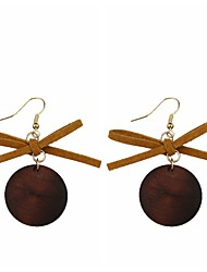 cheap -Women's Drop Earrings - Bowknot Vintage, Sweet, Fashion Gray / Brown For Causal / Daily