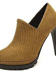 cheap -Women's Shoes PU Spring Fall Basic Pump Heels High Heel for Casual Army Green Brown Black