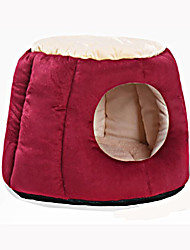 cheap -Cat Dog Bed Pet Mats & Pads Solid Warm Soft Gray Purple Red For Pets