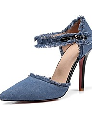 cheap -Women's Shoes Denim Fabric Spring Summer Basic Pump Novelty Heels Stiletto Heel Pointed Toe for Wedding Party & Evening Light Blue Dark