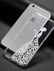 abordables -Funda Para Apple iPhone 8 iPhone 8 Plus Funda iPhone 5 iPhone 6 iPhone 7 Ultrafina Transparente Diseños Funda Trasera Logo Playing With