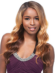 cheap -Synthetic Wig Body Wave Synthetic Hair Highlighted / Balayage Hair / African American Wig Brown Wig Women's Long Capless