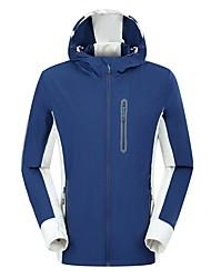 cheap -Men's Hiking Jacket Outdoor Windproof Rain-Proof High Elasticity Jacket Top Full Length Visible Zipper Camping / Hiking Climbing Cycling