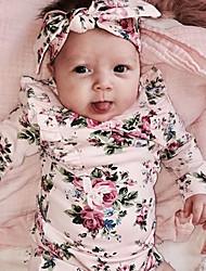 preiswerte -Mädchen Bluse Alltag Blumen Kunstseide Frühling Ganzjährig Langarm Niedlich Aktiv Rosa