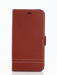 Недорогие -Кейс для Назначение Huawei P9 Lite Huawei Huawei P8 Lite P8 Lite (2017) P10 Lite Бумажник для карт Кошелек со стендом Флип Чехол Сплошной