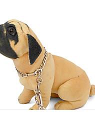 preiswerte -Katze Hund Halsbänder Tragbar Klappbar Einstellbare Flexible Solide Edelstahl Silber