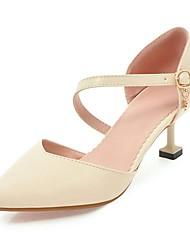 abordables -Femme Chaussures Similicuir Printemps Eté Confort Chaussures à Talons Talon Aiguille Bout pointu Boucle pour Habillé Soirée & Evénement