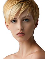 cheap -Human Hair Capless Wigs Human Hair Straight Pixie Cut Side Part Short Machine Made Wig Women's
