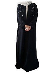 cheap -Fashion Kaftan Dress Abaya Arabian Dress Women's Festival / Holiday Halloween Costumes Black Red Brown Solid