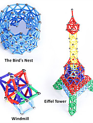 cheap -Magnetic Toy Magnetic Sticks Magnet Toys Magnetic Building Sets Science & Discovery Toys Educational Toy 84 Pieces 5mm Toys Plastic Magnet